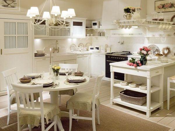 Люстра и светильники для кухни прованс