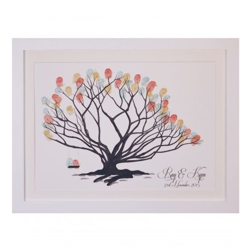 Love the variety of trees available at the Fingerprint Tree. Beautiful guestbook for your wedding! Love  The Fingerprint Tree®