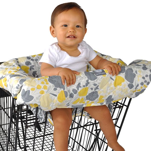 Balboa Baby Shopping Cart Cover Yellow Tulip provides a clean and secure environment for babies. Folds into itself to a compact, convenient size.