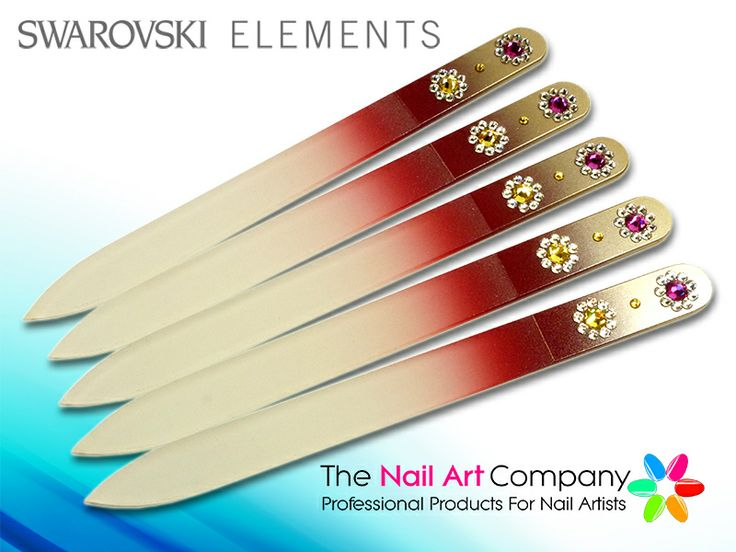 Crystal Roses Luxury Gl Nail File Red To Metallic Gold