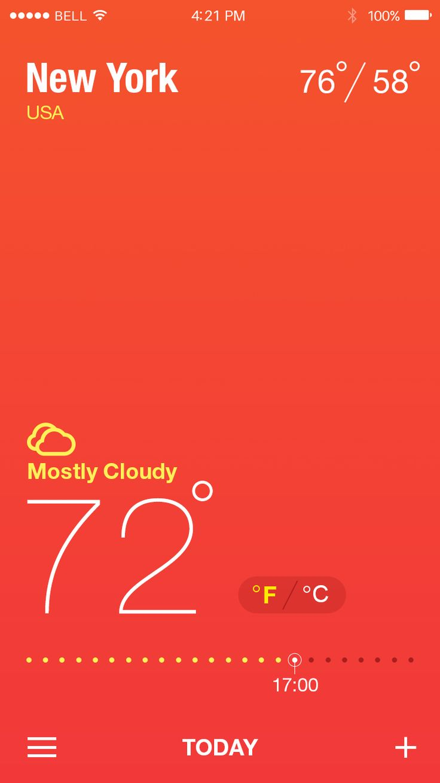 Weather app real pixel