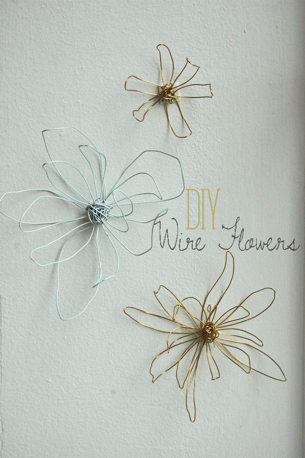 Wire flowers easy to make and would be perfect for nearly any room.  Would love…