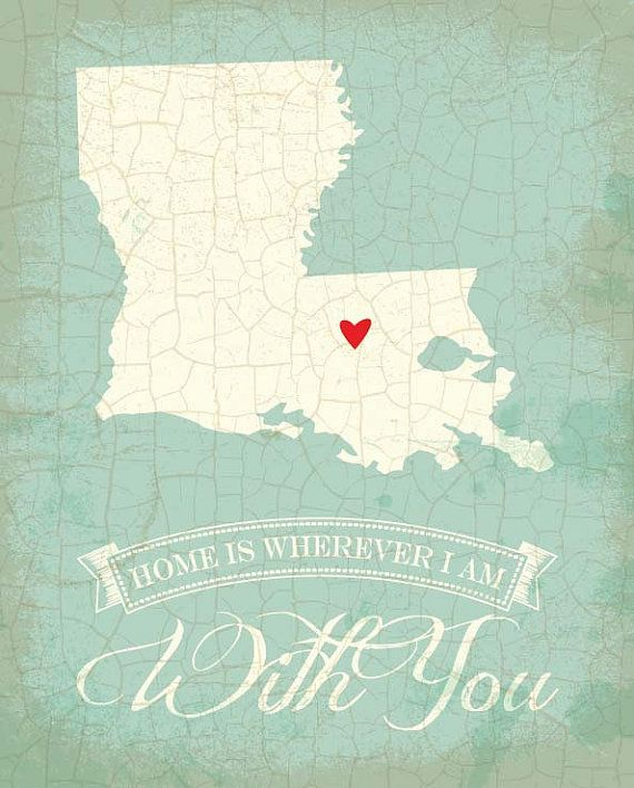 Hey, I found this really awesome Etsy listing at https://www.etsy.com/listing/156513911/louisiana-map-art-state-poster-8-x-10