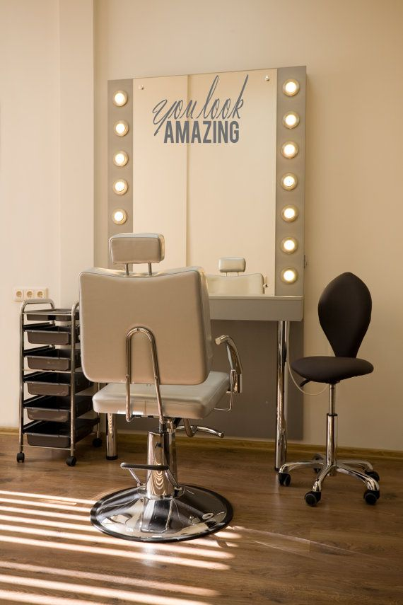 You Look Amazing Beauty Salon Mirror Decal by thewordnerdstudio
