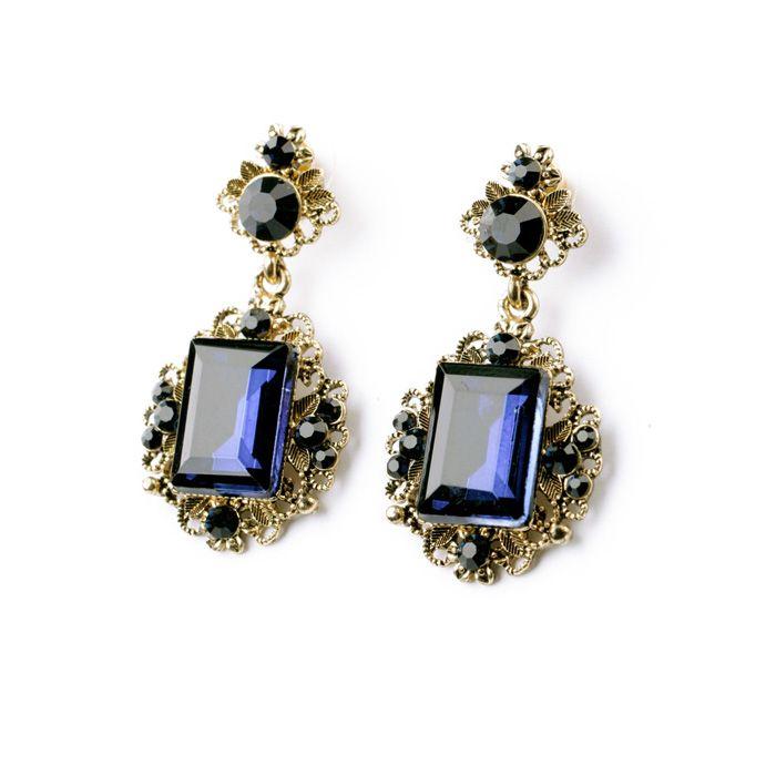 Шицзе себе женщины ювелирные изделия элегантный антикварный квадрат синий смола серьги гвоздики для девочкикупить в магазине ShiJie Jewelry FactoryнаAliExpress
