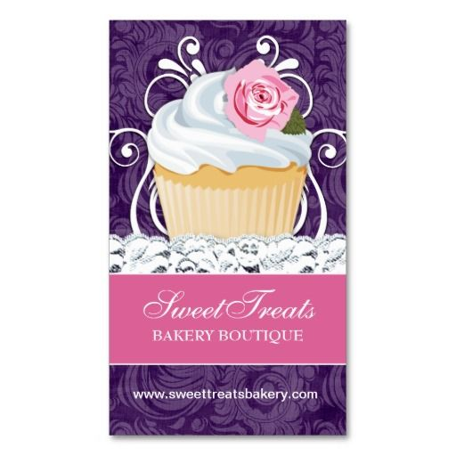 20 best business related images on pinterest create business cards chic and elegant cupcake business cards reheart Gallery