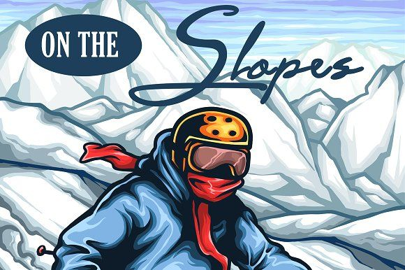 Ski Life by TSV Art Collective on @creativemarket