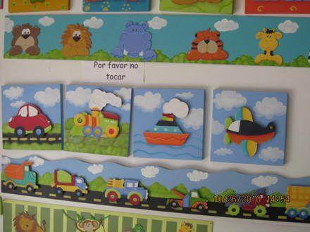 Fotos de lindos cuadros en mdf pintados en country 30 x 30 bogot d c cuadros pinterest - Cuadros para habitaciones infantiles ...