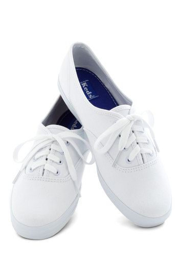 Back to the Basics Sneaker, #ModCloth If all else fails go with some white Ked's.