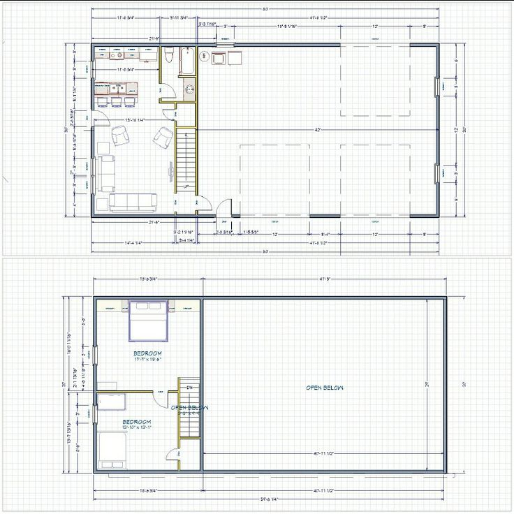 Floorplan for shop with living quarters