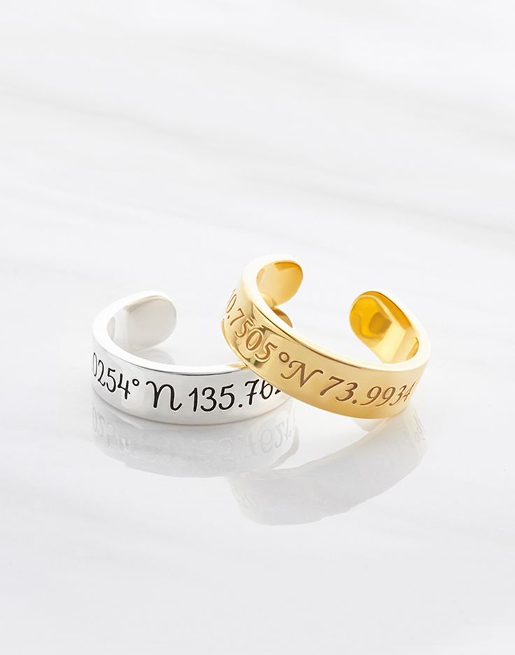 coordinate rings for men • coordinates jewelry for men • engraved rings • engraved jewelry • Gold coordinates ring • Silver coordinates ring • Engraved coordinates ring • Latitude longitude rings • Coordinates jewelry • Bridesmaid ring • Best friend rings • Sister ring • GPS coordinates gift • Personalized anniversary gift • High school graduation gifts • christmas gifts for best friends • best going away gifts