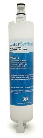 Water Sentinel WSW-1 Refrigerator Replacement Filter by Water Sentinel. $16.88. From the Manufacturer                This WaterSentinel WSW-1 Replacement Water Filter for Frigidaire WF1CB (1-PACK) contains a compressed carbon block which provides tremendous capacity to remove and/or reduce impurities and sediment that may be present in your drinking water. The carbon block has millions of active sites on its surface and within the structure which can absorb impurities like ...