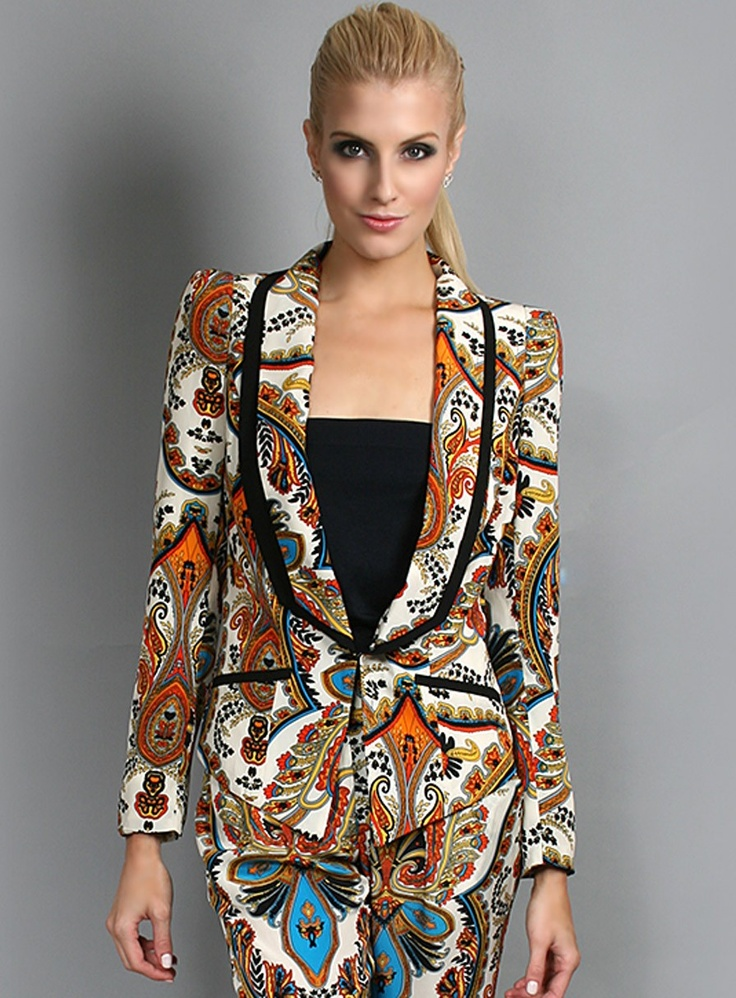 Dakota Print Jacket by Honey & Beau - Gosh Celebrity Fashion Online
