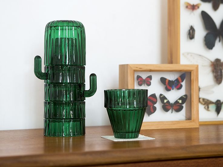 When stacked, these glasses look just like a Saguaro cactus. Only shiny.