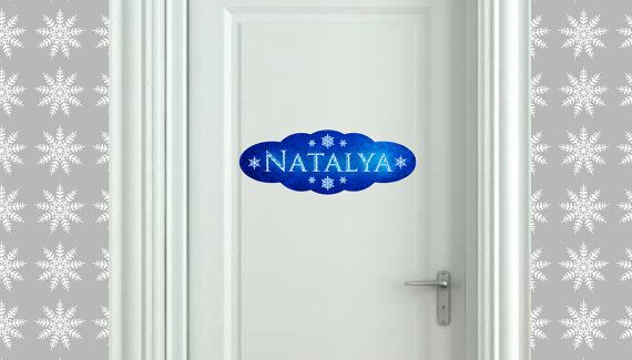 Removable Frozen inspired Name Decal by BC Magic Wallpaper
