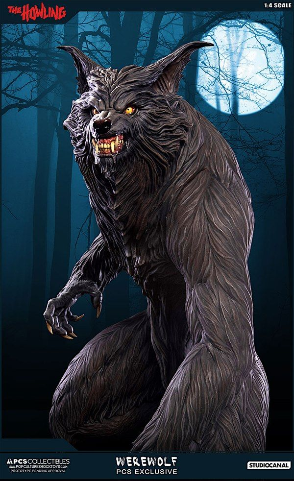 THE HOWLING 14 Statue From PCS Werewolf, Horror movie icons