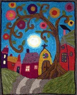 Hooked by Patty Tyrrell. Color planned by Michele Wise. Pattern design by Karla Gerard.