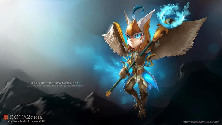 dota 2 chibi wallpaper skywrath mage