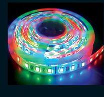 Лента светодиодная цветная (RGB) Светодиодная лента цветного свечения (RGB). Питание от сети постоянного тока 12 Вольт. Рекомендуется применять блоки питания для цветных светодиодных лент серии 220-12-RGB (528-MSRGB-KGDY-70W-12V, 528-MSRGB-KGDY-145W-12V, 528-MSRGB-KGDY-320W-12V). Выбирать блоки питания - по мощности из расчета длины ленты - потребляемая мощность - 14 Ватт на погонный метр ленты. Для управления режимами свечения необходимо укомплектовывать ленту пультом дистанционного…