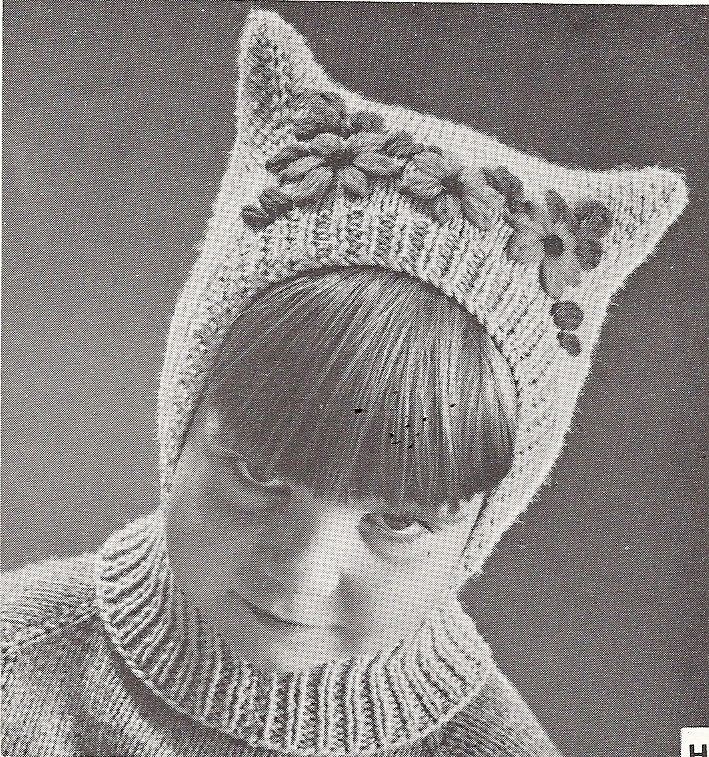 Vintage Balaclava Knitting Pattern : Vintage Pussy Cat Child Hat, Balaclava Pattern, PDF ...