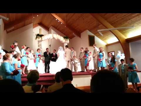 Father of Bride speaks & Keaton cousins Sing - YouTube