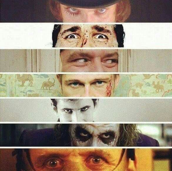 A Clockwork Orange | American Psycho | The Shining | Fight **** | Psycho | The Dark Knight | The Silence of the Lambs