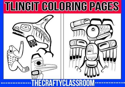 tlingit totem poles coloring pages - photo#33