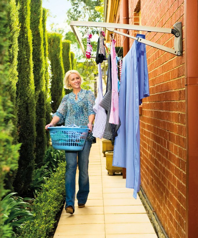 17 best ideas about indoor clothes lines on pinterest - Etendoir a linge mural retractable ...