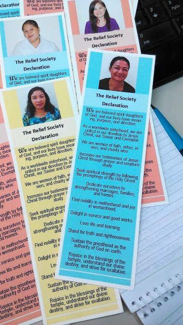 muahrilou: Relief Society Declaration Bookmark