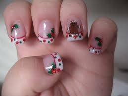 Christmas nails...cute design but that thumb nail freaks me out...needs to be longer! lol