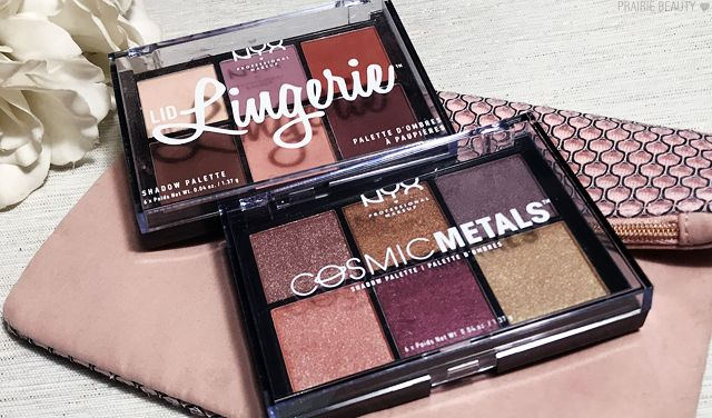 NYX Cosmic Metals Shadow Palette Review  NYX Lid Lingerie Palette