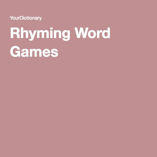 Rhyming Word Games