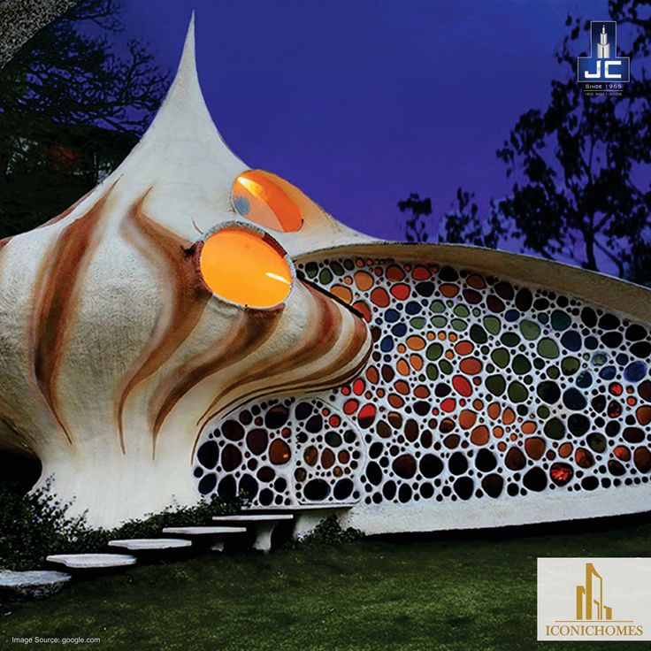 Javier Senosiain of Senosiain Arquitectos, a celebrated Mexican architect created a home made in the shape of giant psychedelic mollusk shell instead of a boring old practical square dwelling. How cool is that!