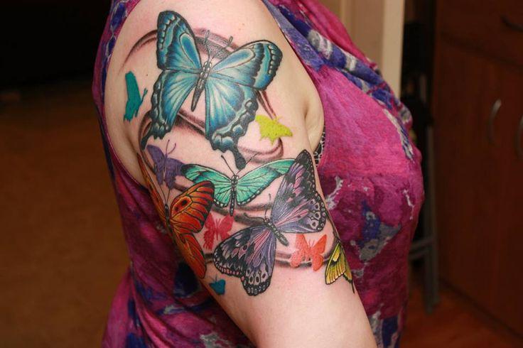 butterfly half sleeve cosmic primate tattoo pinterest butterflies. Black Bedroom Furniture Sets. Home Design Ideas
