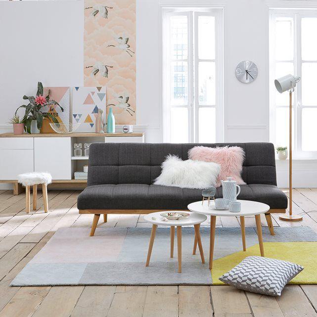 Image Meubel met 3 deuren, 1 lade, afgewerkt met brossed eik en wit, TALÉ La Redoute Interieurs