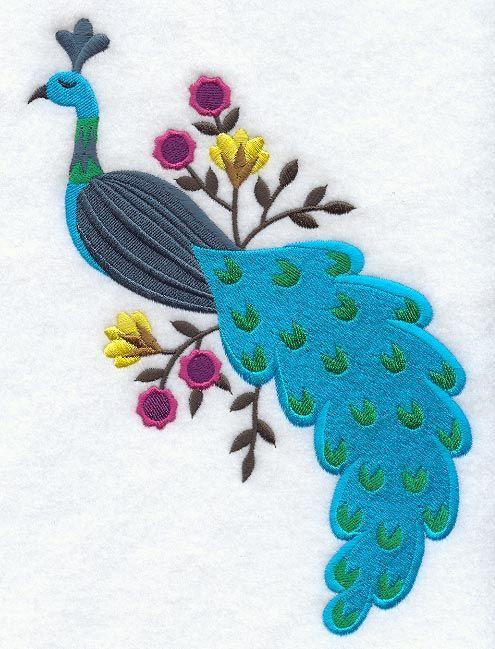 Hungarian Peacock Button Placket