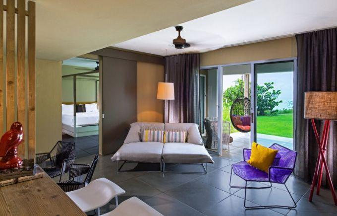 Apartmán Marvelous Garden Suite nabízí vstup přes venkovní terasu přímo do zahrady