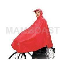 Poncho Cape de Pluie pour Velo Moto Rouge