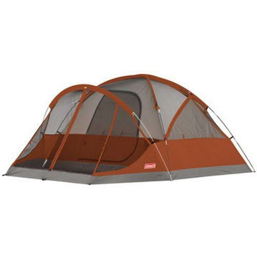 Coleman 4 Person Camping Tent With Screened Porch Canopy Fits Queen Size Airbed