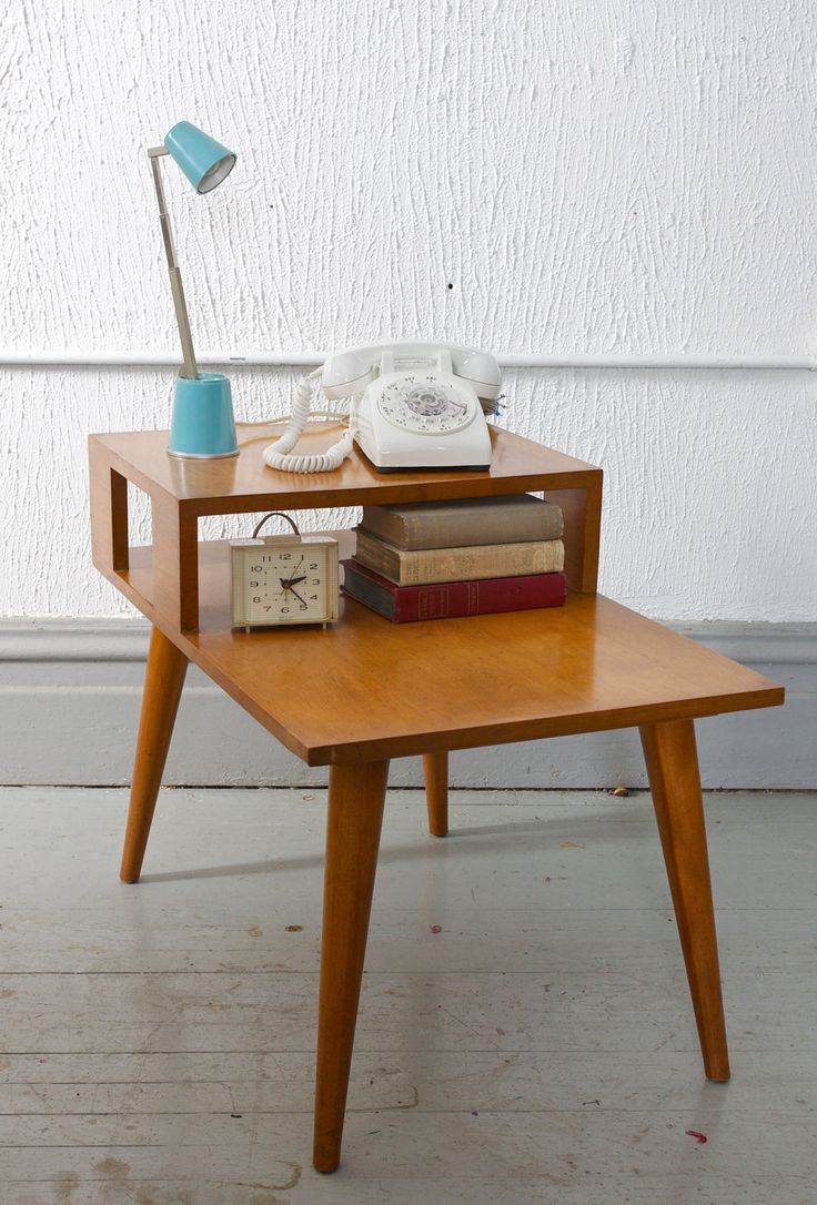Mid Century Modern Conant Ball Step End / Side Table by Rusell Wright.