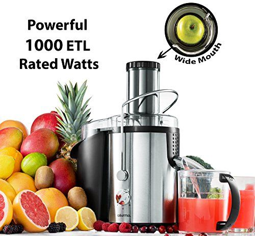 Give your body a delicious healthy boost with Gourmia's Juice Extractor. Quickly create fresh juice from fruits and vegetables.About This Product:• 2-Speed Settings• Safety Lock• Stainless Stee...