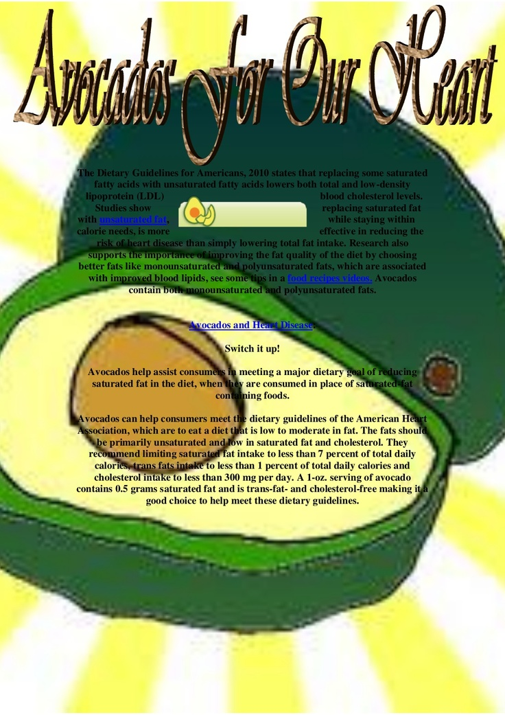 avocadoes-for-our-heart by Angel Vicky via Slideshare
