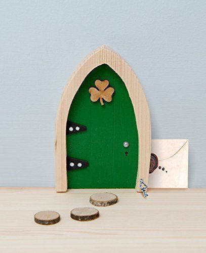Amazon.com - Magical Irish Fairy Door. Irish Fairy Door Company, Green Arched. Handcrafted and Decorated in Ireland. Unlock a World of Imagination. -