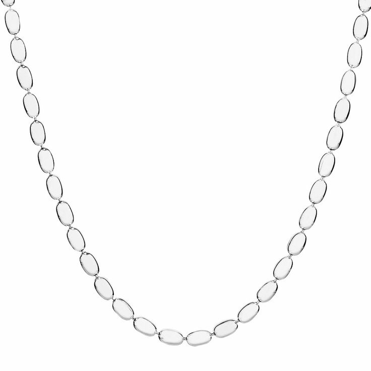 "STERLING SILVER 60CM (24"") RICE BEAD CHAIN"