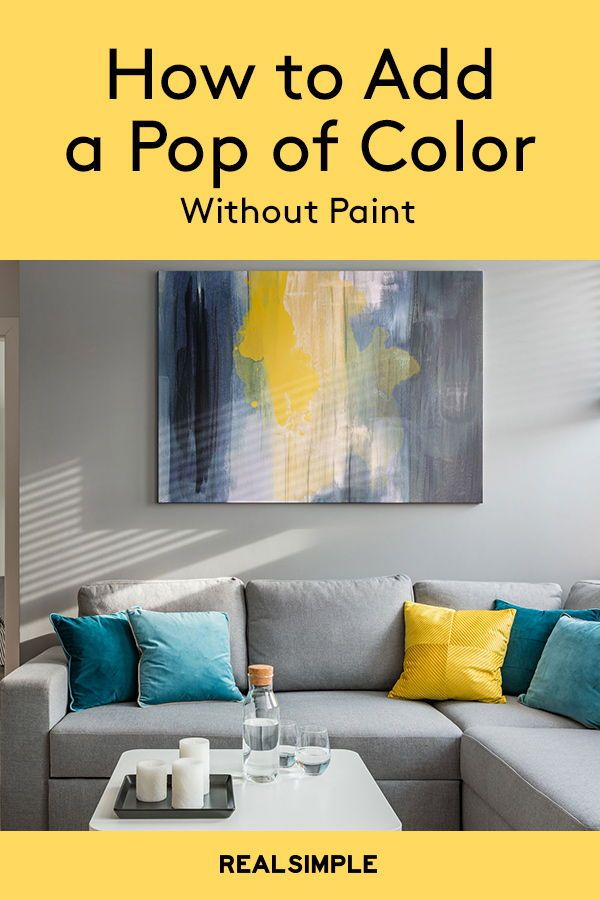 How To Add Color To Every Room Without Painting Yellow Walls Living Room Grey And Yellow Living Room Living Room Colors