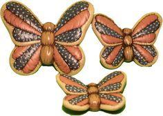 Resultado de imagen para mariposas de ceramica pintadas a mano