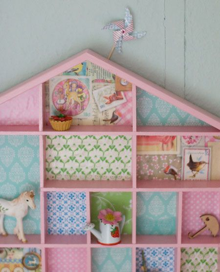 Little House Of Wonder. Cute Idea To Put Wallpaper Or