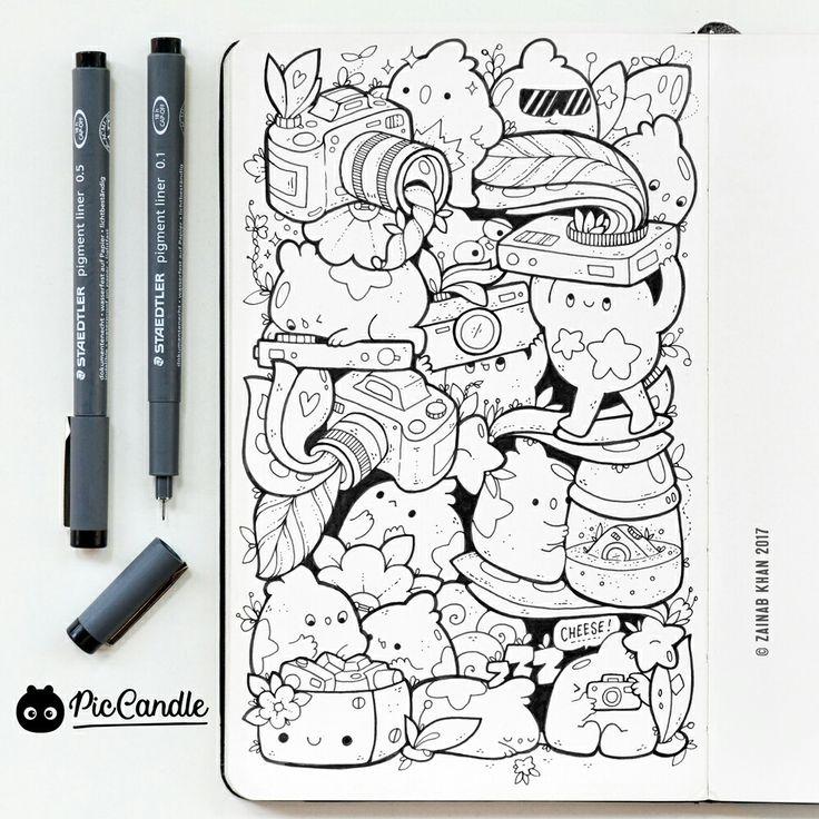 Cameras Doodle by #piccandle 13JAN17