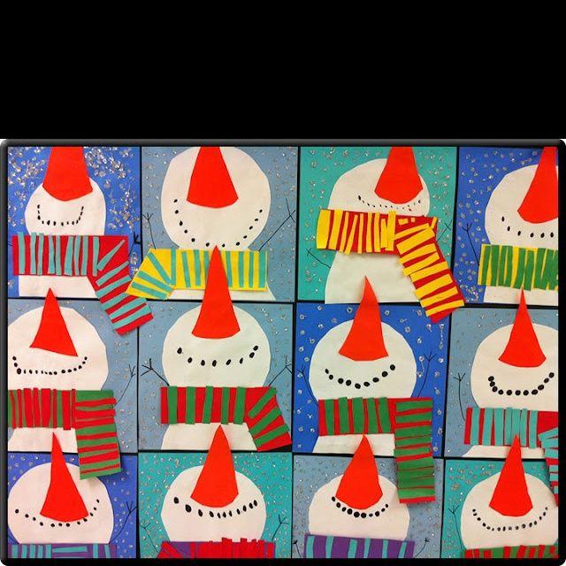 kindergarten snowmen | Cute snowmen project | ART Kindergarten