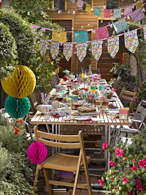 flower bunting talking table - Google Search